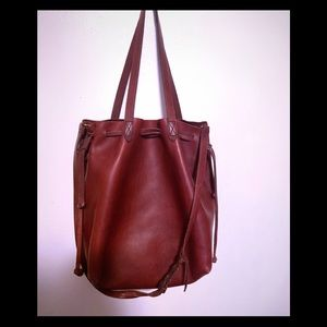 Madewell  drawstring leather tote